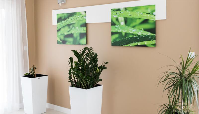 obrazy canvas na ścianie w mieszkaniu