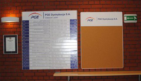 oznakowanie firmy PGE