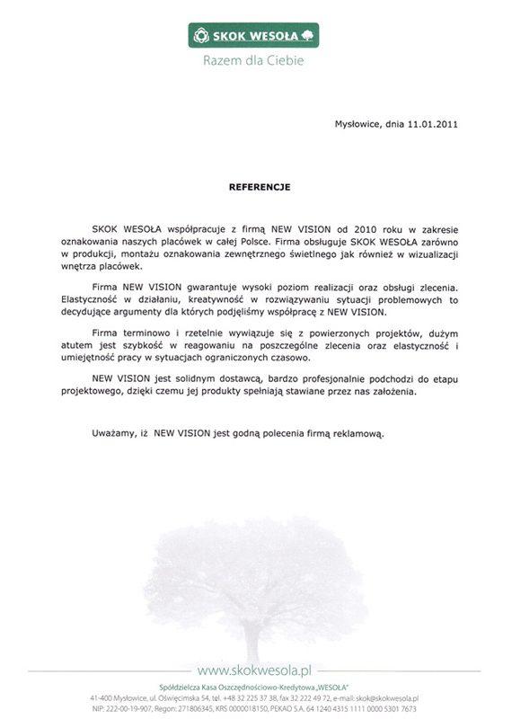 referencje od skok wesoła z Mysłowic