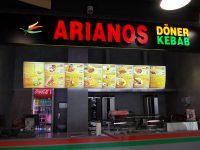 Menuboard Arianos front - projekty graficzne białystok