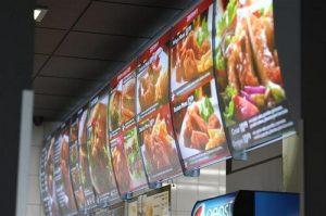 menuboard dla united-chicken zbliżenie