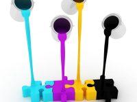 Druk cyfrowy - grafika z farbami